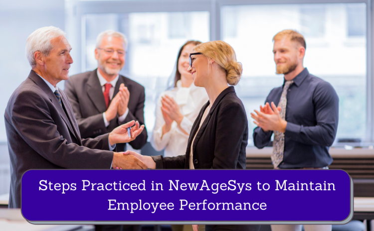 Steps Practiced in NewAgeSys to Maintain Employee Performance